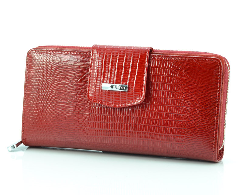 Красный лаковый кошелек Karya 1119-074 (Турция)
