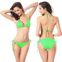 Стильный раздельный женский купальник на завязках. Разные цвета, размер FREE.