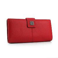 Красный кошелек Givenchy кожаный на кнопке, фото 1