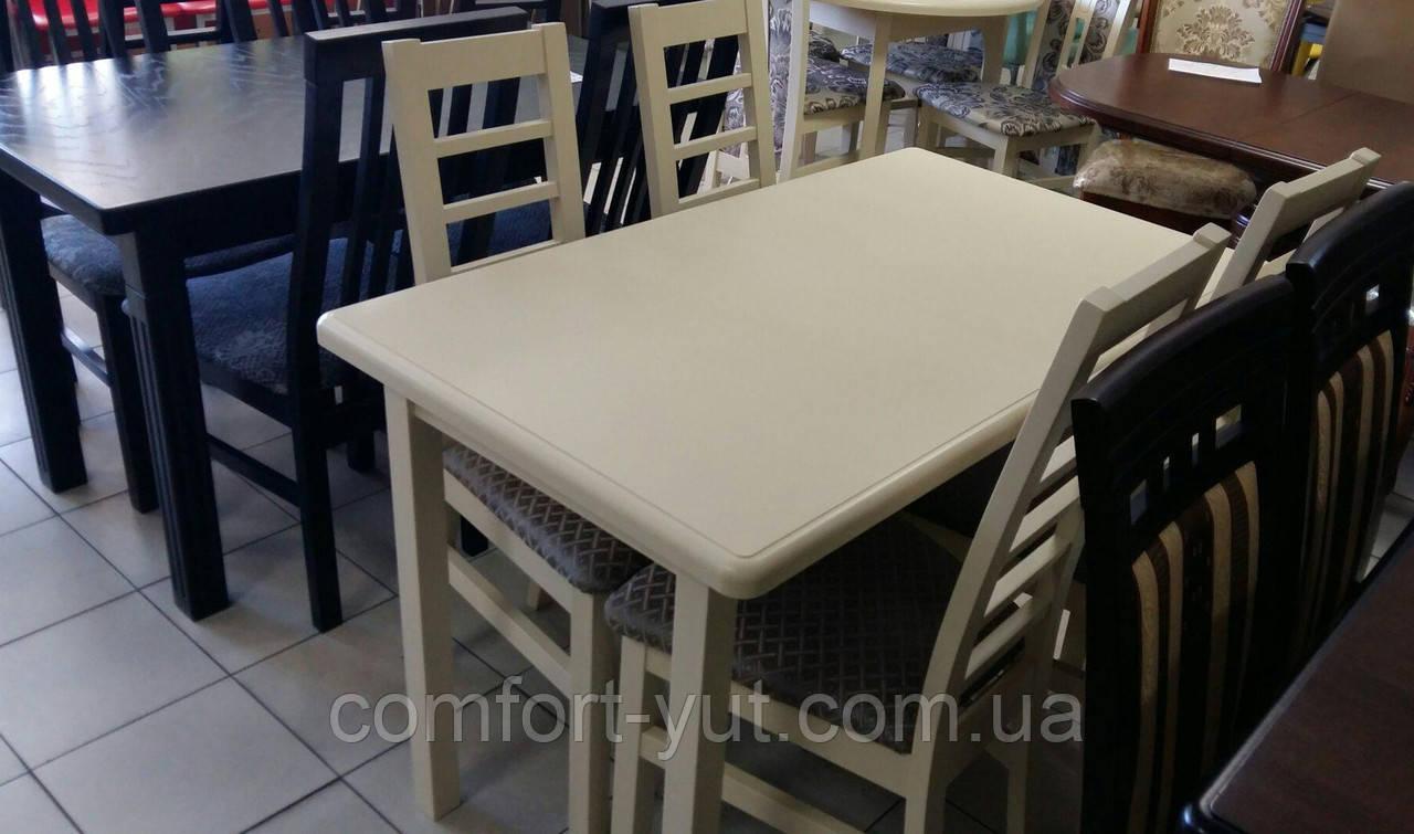 Стол Сид бежевый 120(+30)*70 обеденный раскладной деревянный