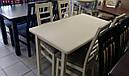 Стол Сид белый 120(+30)*70 обеденный раскладной деревянный, фото 3