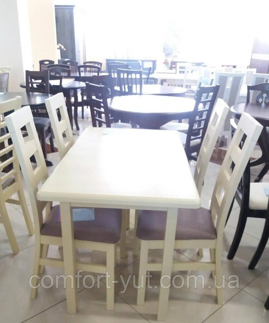 Стол Сид ваниль 120(+30)*70 обеденный раскладной деревянный