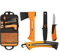Подарочный набор туриста fiskars (топор + нож + пила + сумка)