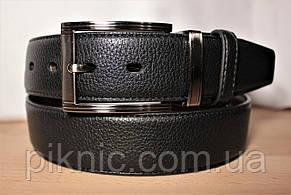 Ремень мужской кожаный двухсторонний 120х4 см. Брючный, джинсовый ремень