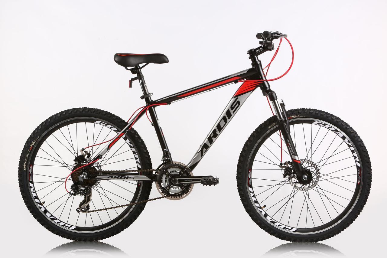 """Горный велосипед ARDIS PIONEER MTB 26"""" 15"""" 17"""" Черный-Красный"""