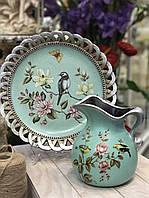 Кувшин и настенная тарелка Райские птицы