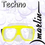 Маска женская для ныряний Marlin Techno Yellow