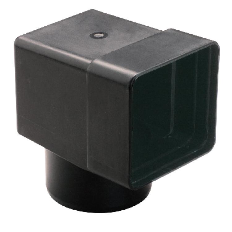 Адаптер парапетной воронки ПВХ Eterno Ivica 100*100 ф100мм для углового слива