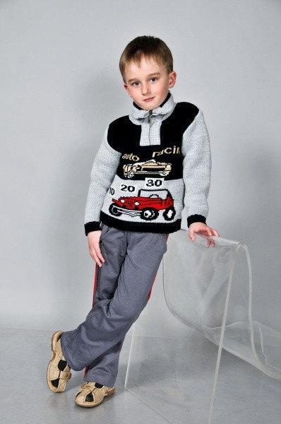 теплый вязаный свитер на мальчика за 220 грн в харькове от Puziki