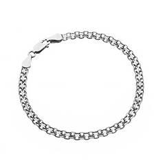 Браслеты серебряные цепные