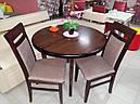 Стіл круглий Еліс ваніль 100(+40)*100 обідній розкладний дерев'яний, фото 5