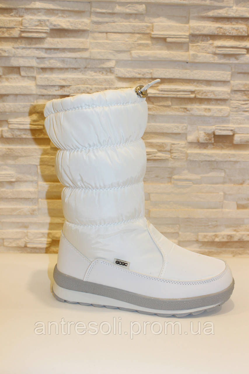 Сапоги дутики женские зимние белые С648 р 36 37