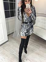 Стильное женское двухстороннее платье Зеркало