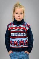 Вязаный свитер с орнаментом унисекс, фото 1