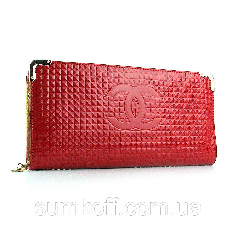 dcf2524442b2 Красный лаковый клатч-кошелек женский на цепочке: продажа, цена в ...