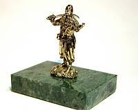 Статуэтка Козак с люлькой и саблей из бронзы