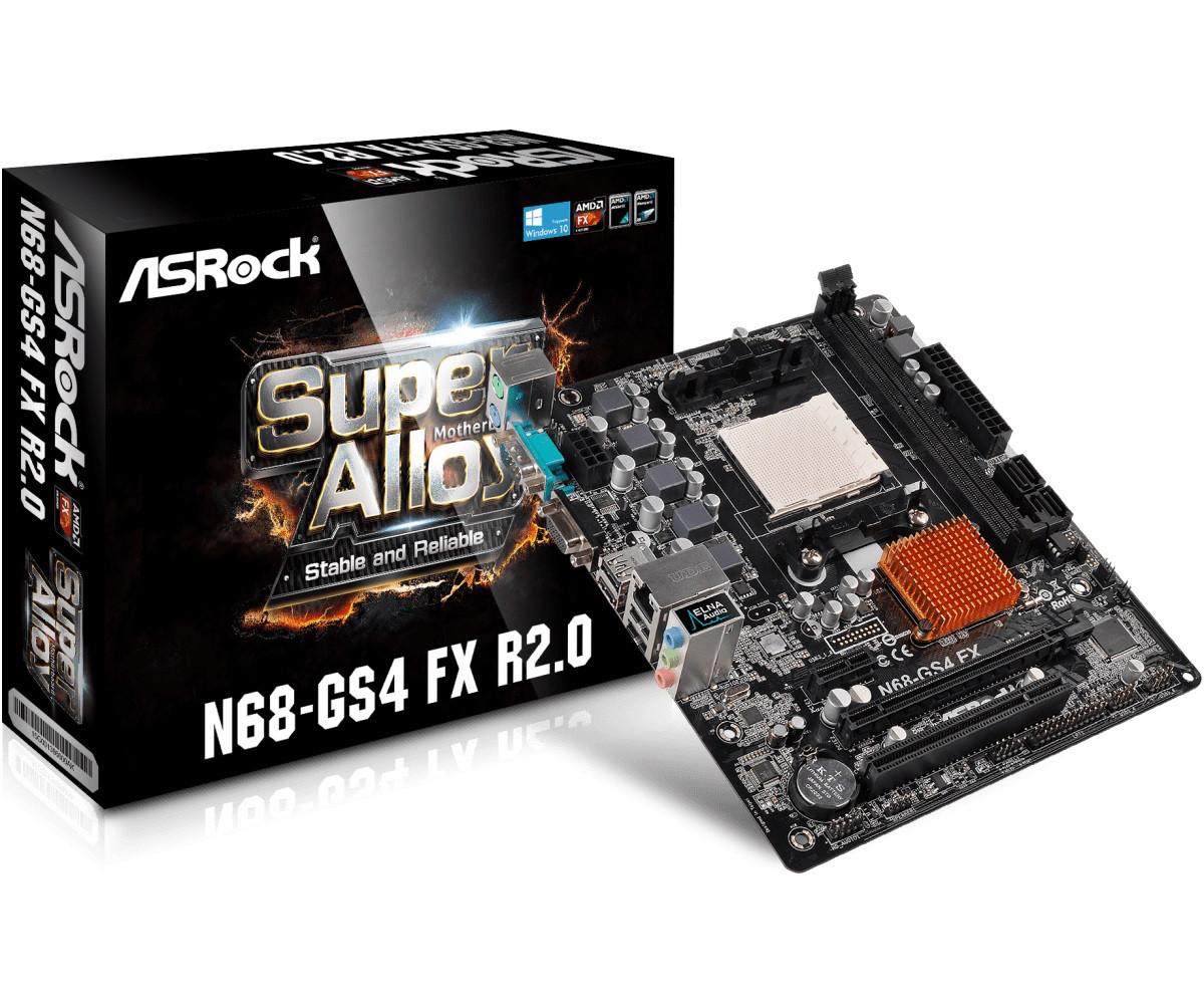 "Материнская плата ASRock N68-GS4 FX R2.0 sAM3/sAM3+, GeForce 7025 ""Over-Stock"""