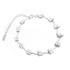 Серебряные родированные браслеты