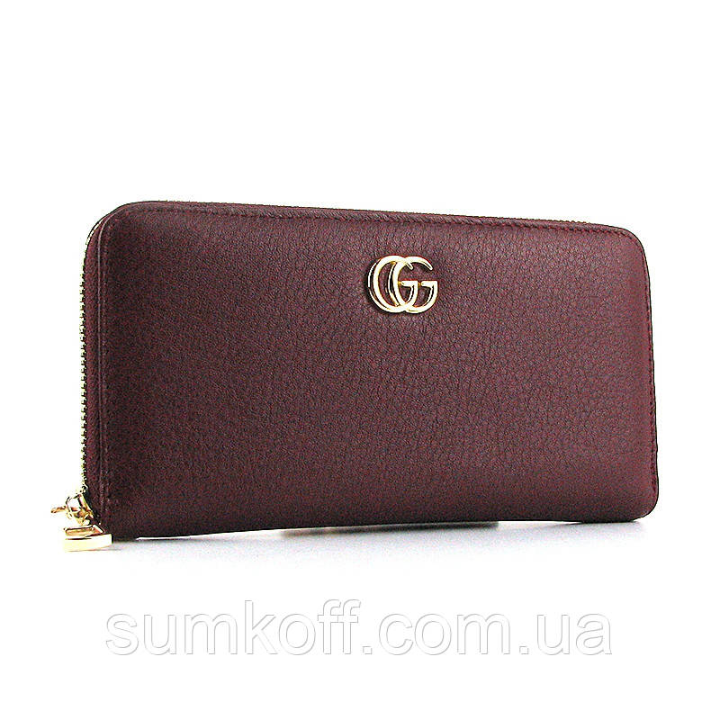 0ff6d0bf72be Кошелек Gucci женский бордовый на молнии - Интернет магазин сумок SUMKOFF -  женские и мужские сумки