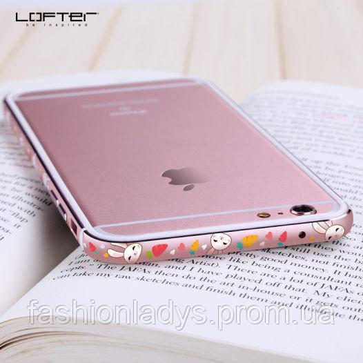 "Металлический бампер Lofter Cutie Series для Apple iPhone 6/6s (4.7"") Зайчик"