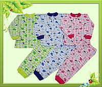 Пижама детская с начесом ,на кнопочке.
