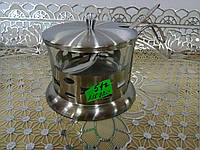 Сахарница стекл в метал корпусе FRU-009