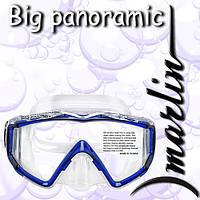 Маска с закаленным стеклом Marlin Big Panoramic Blue