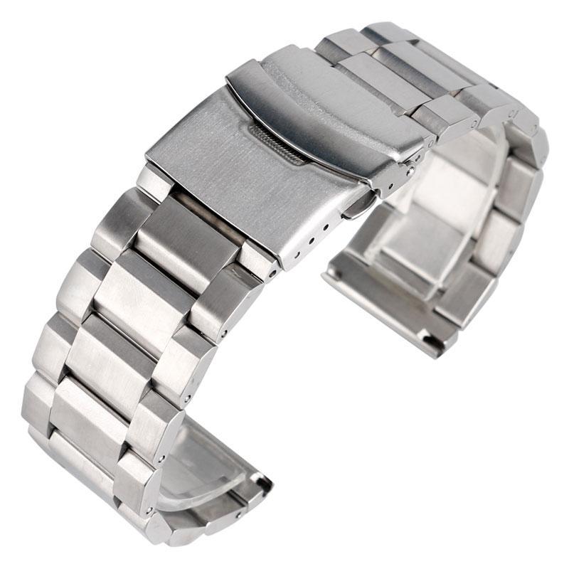 Браслет для часов из нержавеющей стали, литой, матовый. 20-й размер.