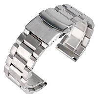 Браслет для часов из нержавеющей стали, литой, матовый. 20-й размер., фото 1