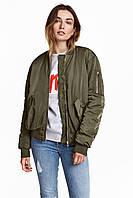 Женская куртка бомбер H&M, цвет хаки, в наличии  M L XL, фото 1