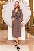 Платье на запах Кейси коричневого цвета