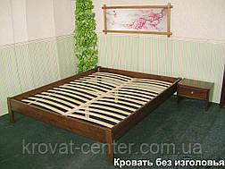 Полуторная кровать без изголовья (массив - сосна, ольха, береза, дуб)., фото 2