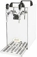 Охладитель пива надстоечный - 40 л/ч - сухой Kontakt 40/K, с насосом, 2 крана, Lindr, Чехия