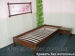 Односпальная кровать без изголовья (массив - сосна, ольха, береза, дуб)., фото 2