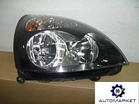 Фара передняя (черная) правая (эл.) Renault Symbol I 2002-2006 (LB0/1/2) / Clio II 2001-2005 (B0/1/2)