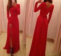Платье длинное с разрезом