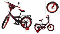 Велосипед детский 18 дюймов STORM, черно-красный
