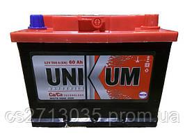 Автомобильный аккумулятор Unikum 60Ач 500А (1) L