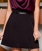 Женская черная юбка-трапеция (Карсити jd)