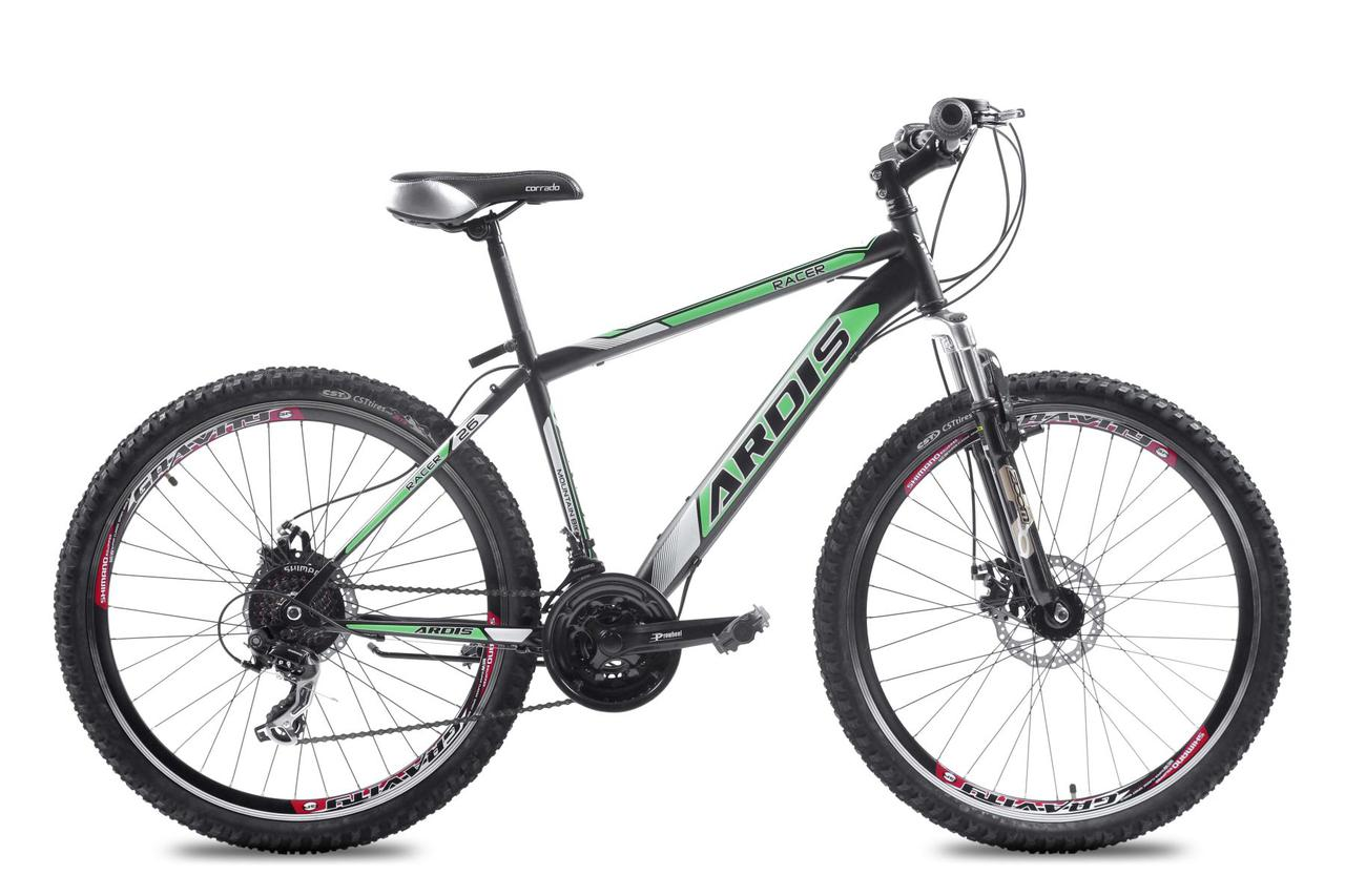 """Горный велосипед ARDIS RACER MTB 26"""" 19""""  Черный/Зеленый"""