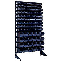 Односторонний стеллаж с ящиками для метизов 1800 мм на 105 контейнеров Яремче