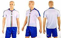 Форма футбольная детская ITALY гостевая 2016  (полиэстер, р-р XS-XL, белый-синий), фото 1