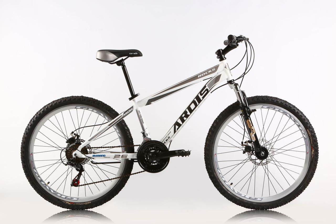 """Горный велосипед ARDIS ROCKS MTB 26"""" 14"""" Белый/Серый"""