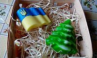 """Подарочный/сувенирный набор мыла для рук """"Украинский новогодний"""""""