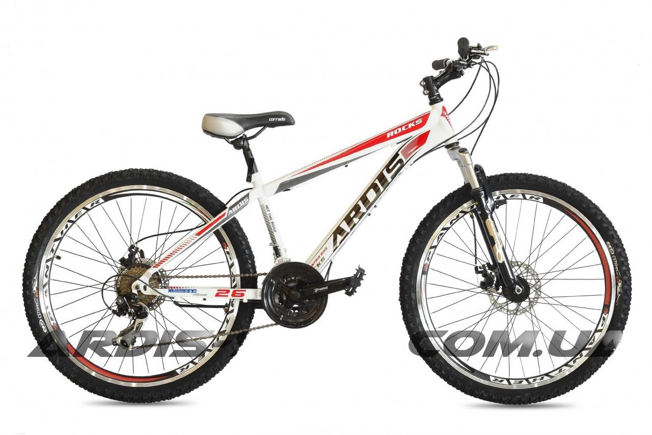 """Горный велосипед ARDIS ROCKS MTB 26"""" 14"""" Белый/Красный"""