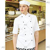Китель повара женский белый (поварская форма)10030212_W_White