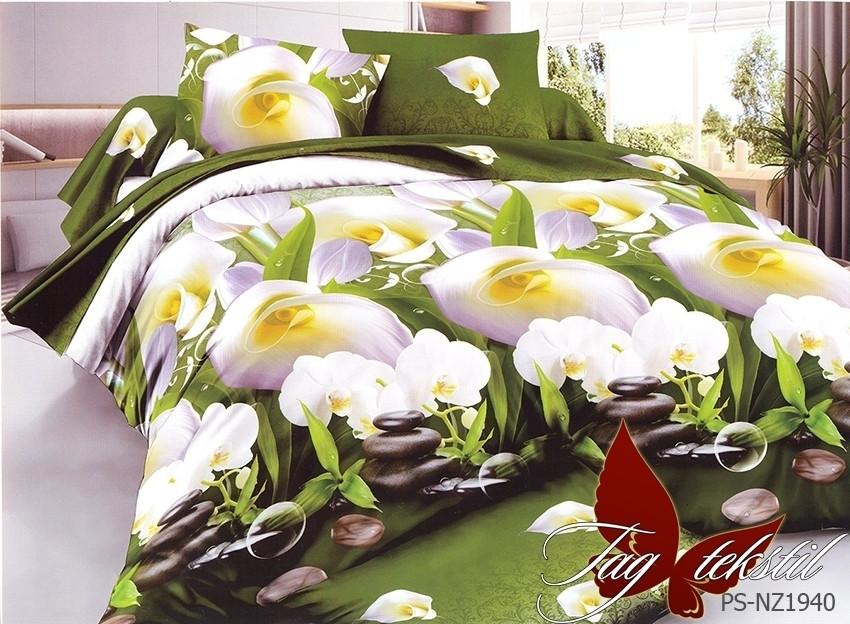 Постельное белье ТМ TAG/2-спальные/Полисатин 3D  PS-NZ1940