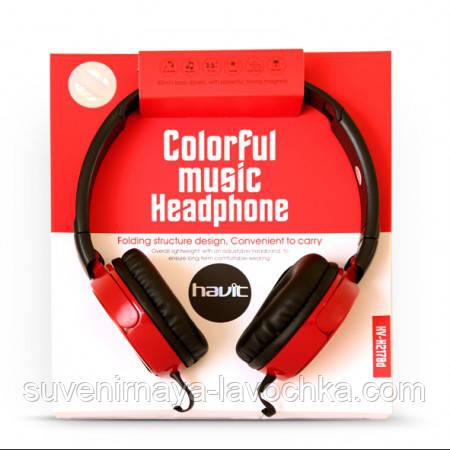 Наушники Havit HV-H2178d, красные, с микрофоном