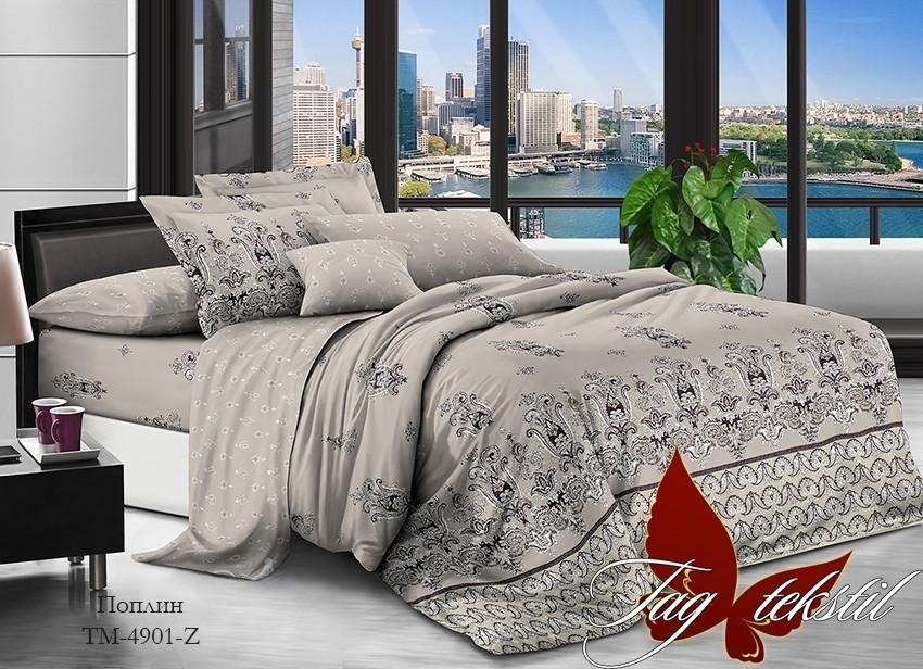 Постельное белье ТМ TAG/1.5-спальные/Поплин  с компаньоном TM-4901Z