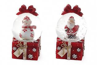 Водяной шар Дед Мороз Снеговик